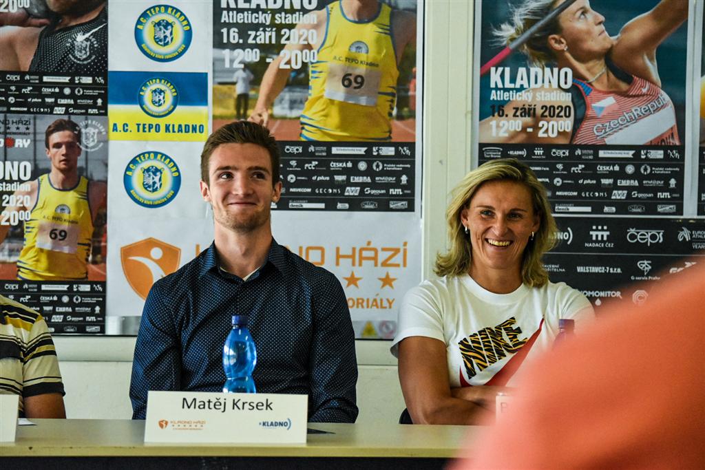 Matěj Krsek na tiskové konferenci 'Kladno hází a Kladenské memoriály', Foto: David Herák