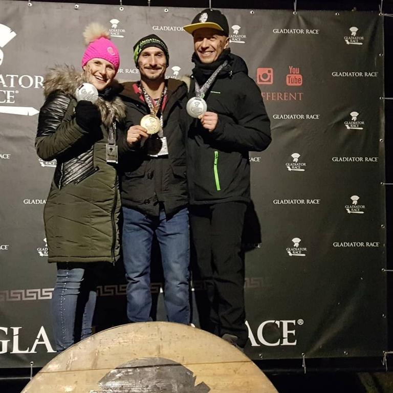 Zlatý a stříbrný úspěch v Gladiátor Race Josefov 2020, Zdroj: OCR team Kladno