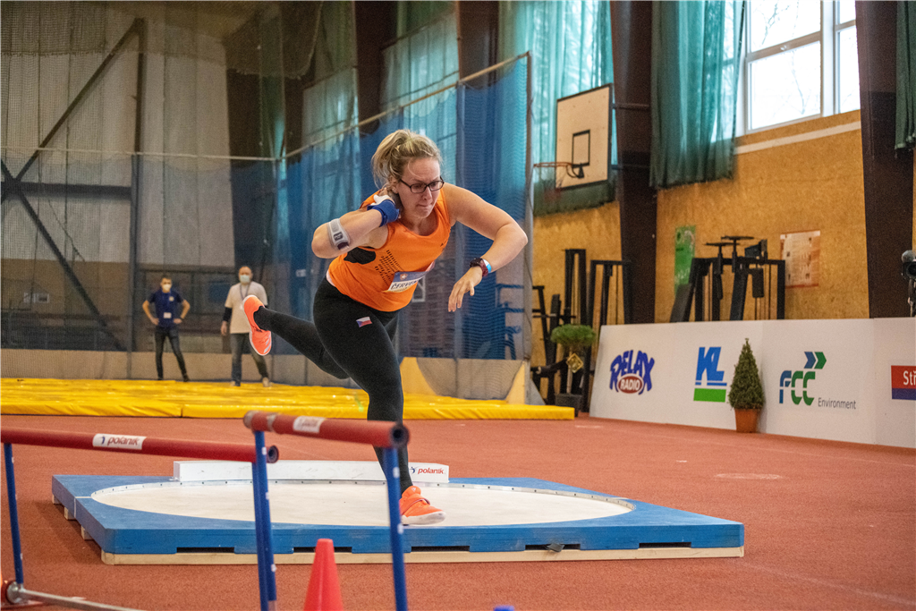 Vítězka ve vrhu koulí Markéta Červenková (USK Praha) na Kladno Indoor 2021 , Zdroj: A.C. TEPO Kladno
