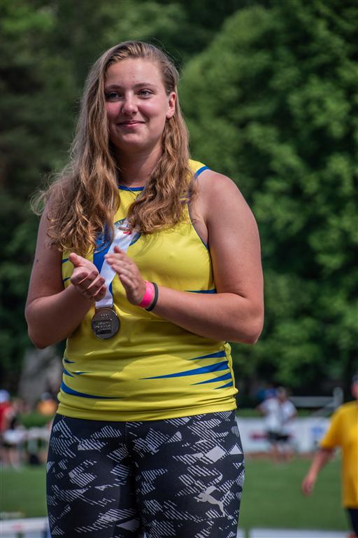 Vendula Holečková 2. místo hod kladivem juniorky - MČR juniorů a dorostu Kladno r. 2021, Foto: David Herák