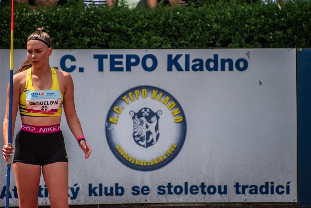 Natálie Gengelová - MČR juniorů a dorostu Kladno r. 2021, Foto: David Herák