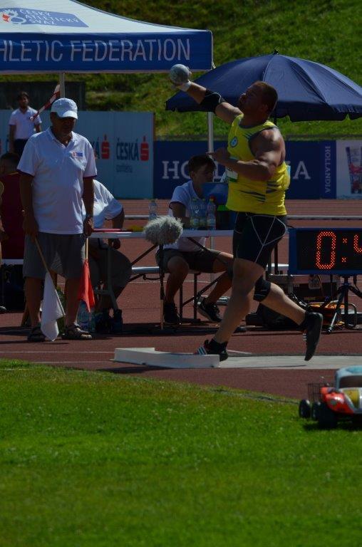 Miroslav Pavlíček - hod kladivem 3. místo (65,13 m) MČR Zlín r. 2021, Zdroj: A.C. TEPO Kladno