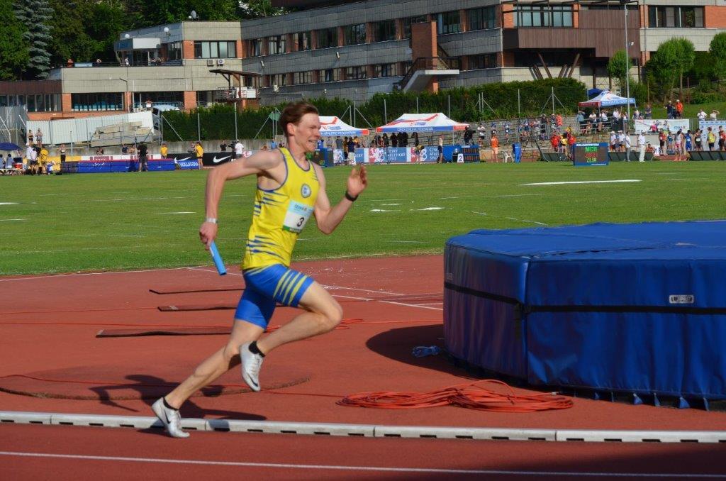 Jan Ullman - štafeta 4 x 400 m 4. místo (3:17,80 min) MČR Zlín r. 2021, Zdroj: A.C. TEPO Kladno