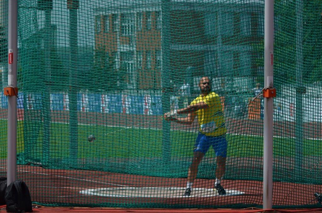 Petr Koucký -  hod kladivem 6. místo (60,04 m) MČR Zlín r. 2021, Zdroj: A.C. TEPO Kladno