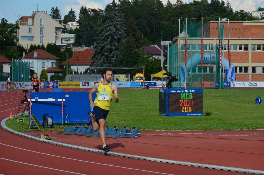 Daniel Lehar - štafeta 4 x 400 m 4. místo (3:17,80 min) MČR Zlín r. 2021, Zdroj: A.C. TEPO Kladno