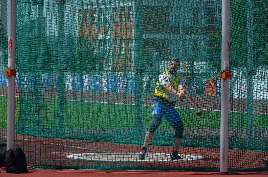 Michal Fiala - hod kladivem 2. místo (65,49 m) MČR Zlín r. 2021, Zdroj: A.C. TEPO Kladno